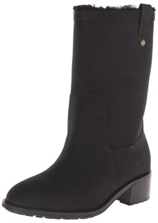 Cole Haan Women's Jessup WP Boot Black Leather/Shearling