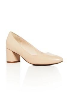 Cole Haan Women's Justine Leather Mid Heel Pumps