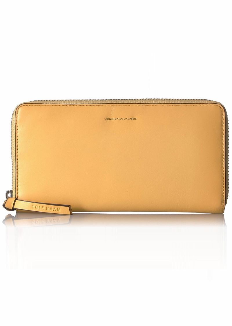 Cole Haan Women's Kaylee Continental Zip Around Leather Wallet sunset gold
