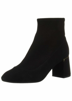 Cole Haan Women's Laree Stretch Bootie Ankle Boot Black Suede  B US