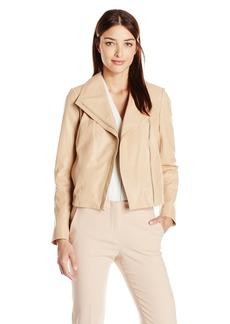 Cole Haan Women's Leather Moto Jacket  XL