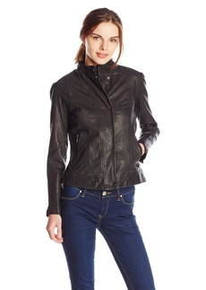 Cole Haan Women's Novelty Leather Jacket -  -