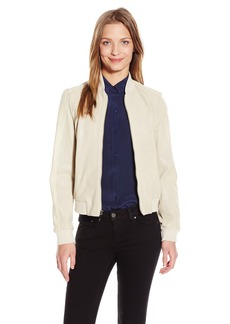 Cole Haan Women's Perforated Goat Leather Zip Jacket