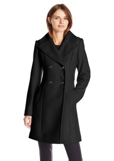 Cole Haan Women's Pressed Wool Double Breasted Coat