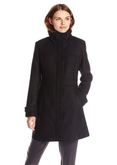 Cole Haan Women's Pressed Wool Single Breasted Coat