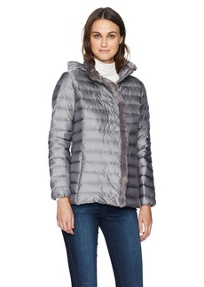 Cole Haan Women's Quilted Iridescent Down Coat with Faux Fur Details  XL