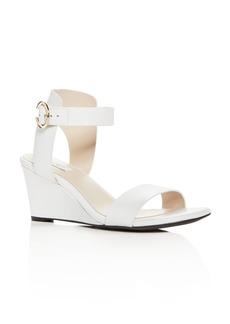 Cole Haan Women's Rosalind Leather Wedge Sandals