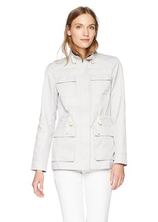 Cole Haan Women's Safari Jacket with Stand Collar  Extra Large