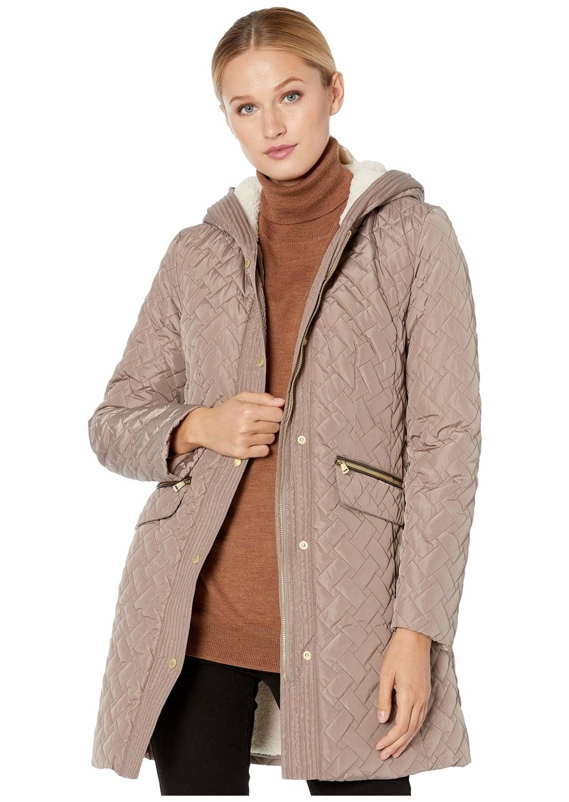 Cole Haan Women's Sherpa Lined Quilted Jacket  L