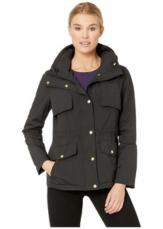 Cole Haan Women's Short Packable rain Jacket  L