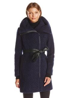 Cole Haan Women's Signature Boucle Oversized Collar Coat