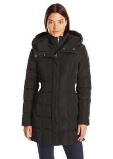 Cole Haan Women's Signature Down Coat With Bib Front