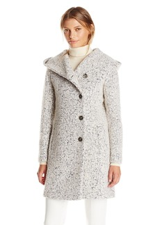 Cole Haan Women's Signature Dropped Shoulder Front Button Coat