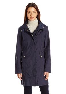 Cole Haan Women's Signature Packable Rain Jacket with Adjustable Waist Drawcord