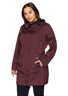 Cole Haan Women's Single Breasted Travel Packable Rain Jacket  S