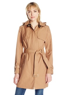 Cole Haan Women's Single Breasted Trench Coat  XS