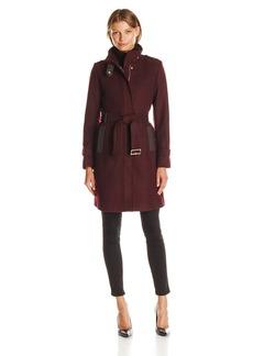 Cole Haan Women's Stand Collar Wool Coat