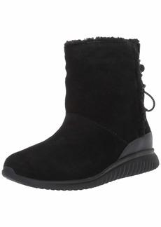 Cole Haan Women's Studiogrand Slip-ON Boot Waterproof Ankle Black Suede WP/Faux Shearling  B US