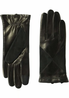 Cole Haan Women's Suede and Leather Diamond Glove black L