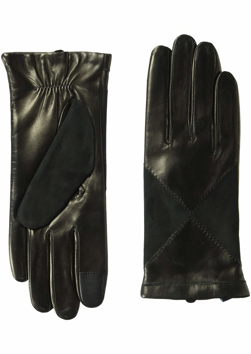 Cole Haan Women's Suede and Leather Diamond Glove black XL