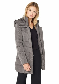Cole Haan Women's Taffeta Down Coat with bib  Extra Large