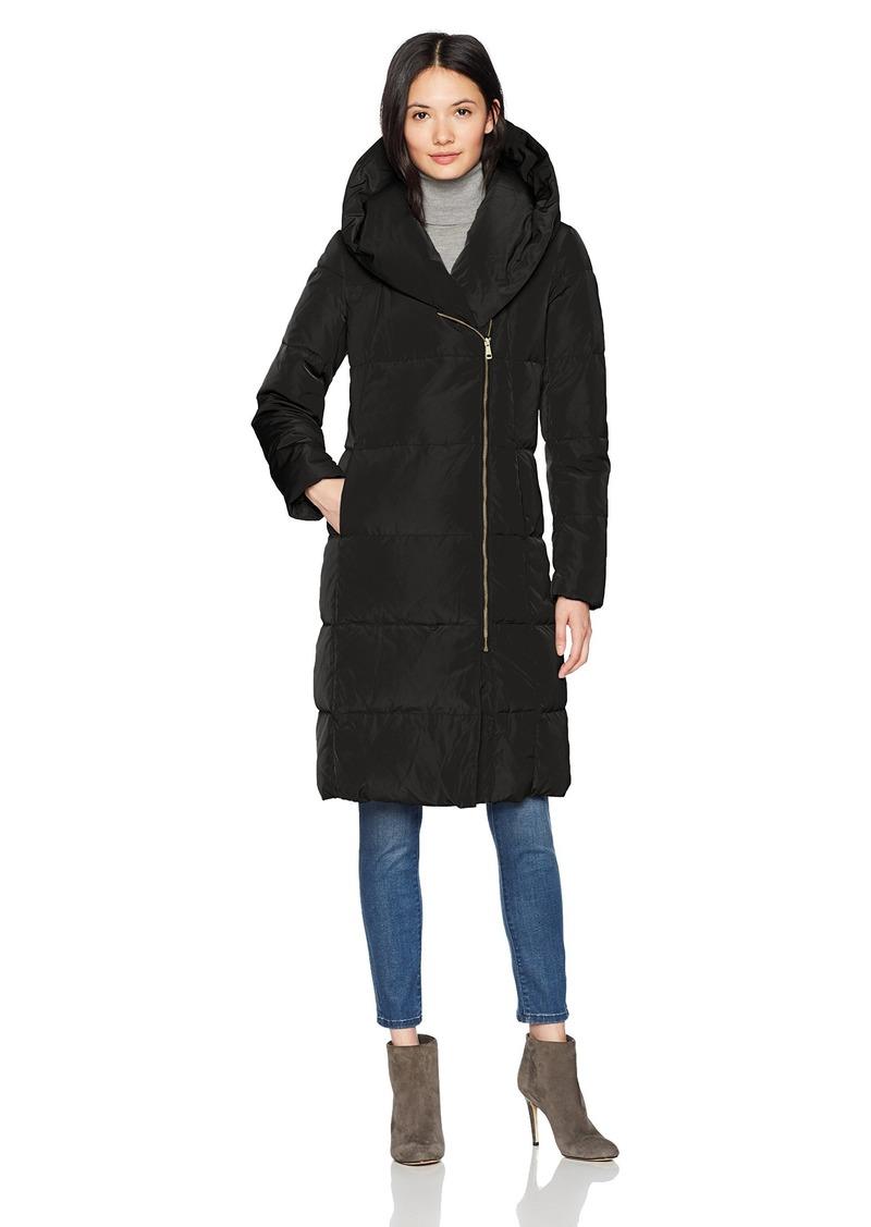 Cole Haan Women's Taffeta Down Double Breasted Zip Front Coat  XL