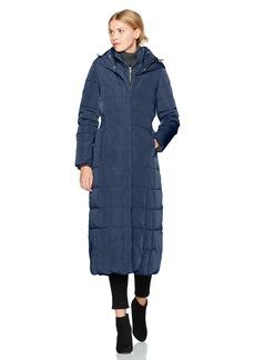 Cole Haan Women's Taffeta Quilted Long Down Coat  XS