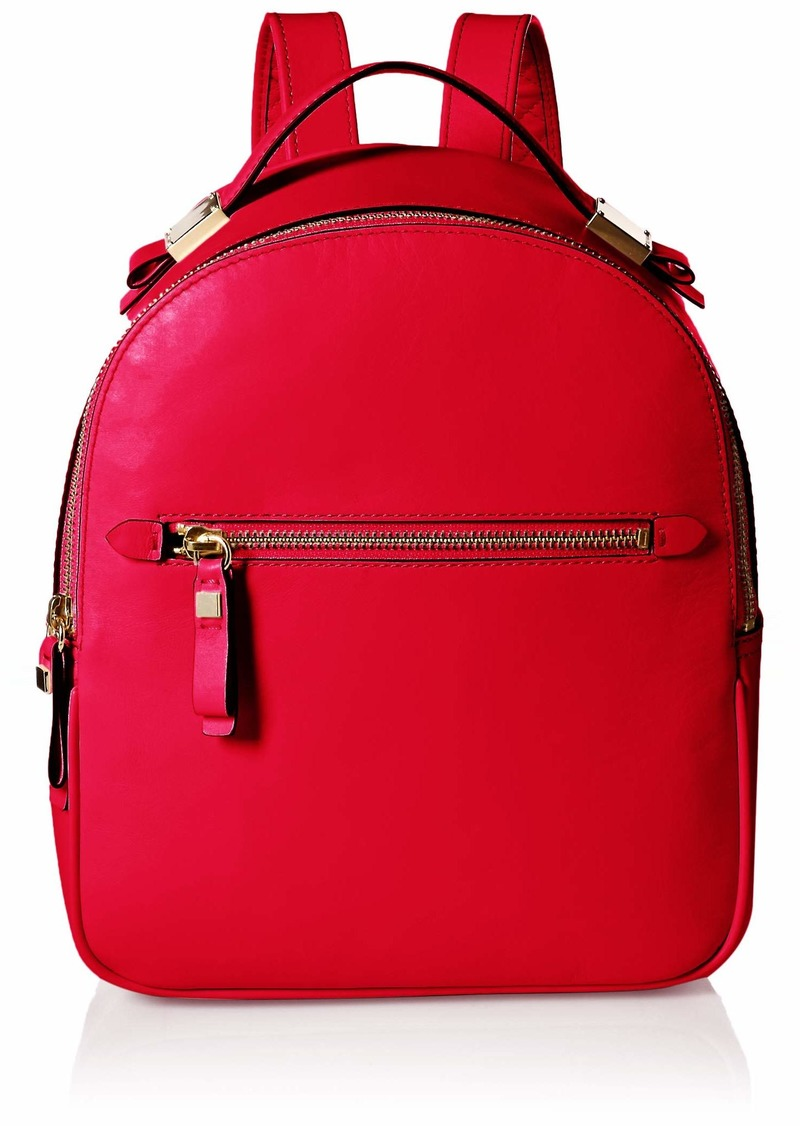 Cole Haan Women's Tali Leather Small Backpack barbados cherry