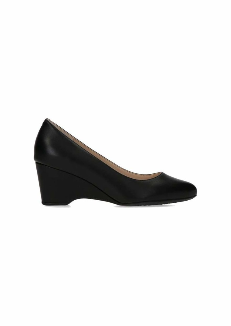 Cole Haan Women's The GO-to Wedge (0MM) Pump BLACK LEATHER WP  medium US