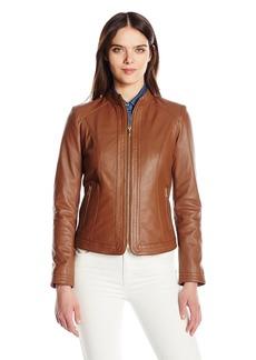 Cole Haan Women's Trapunto Stitch Panel Jacket  L