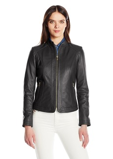 Cole Haan Women's Trapunto Stitch Panel Jacket  L
