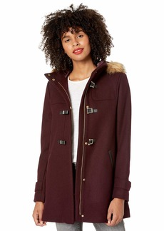 Cole Haan Women's Wool Twill Short Duffel Coat