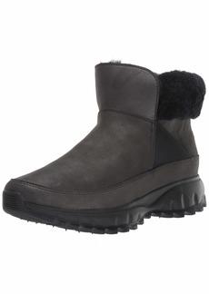 Cole Haan Women's Zerogrand Explore All-Terrain Bootie Ankle Boot BLACK SHIMMER LEATHER WATERPROOF  B US
