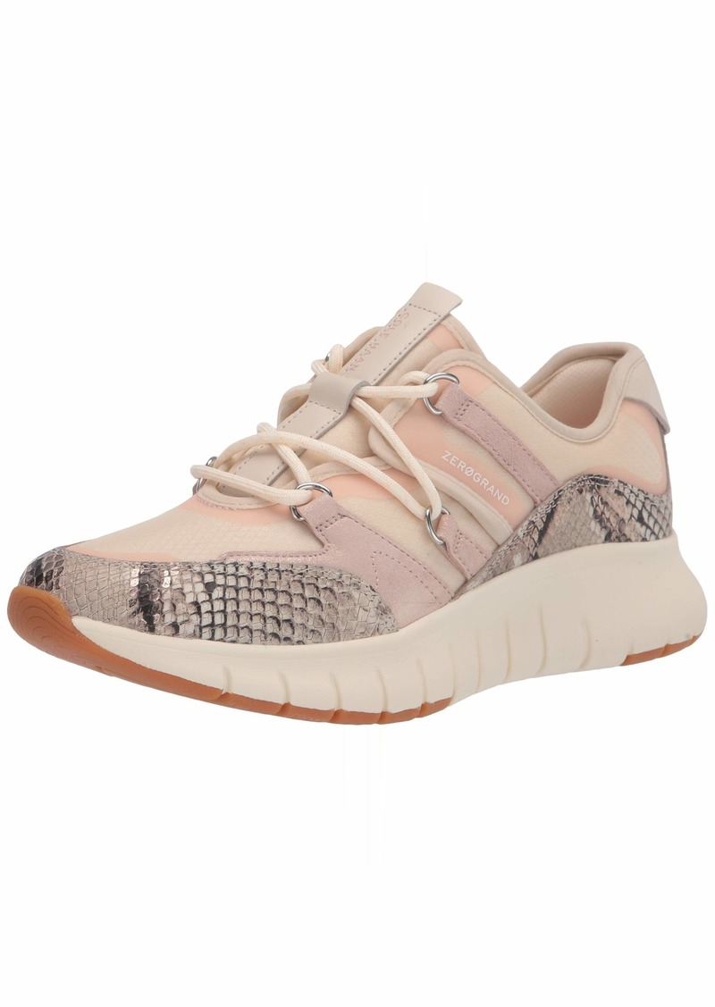 Cole Haan womens Zerogrand Flex Lace Up Sneaker Soft Metal Snake Print/ Clay Pink Pixie Suede/ Whitecap Grey/ Ivory  US