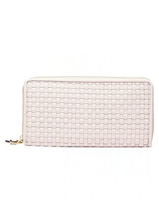 Cole Haan Women's Zoe Woven Continental Wallet peach blush