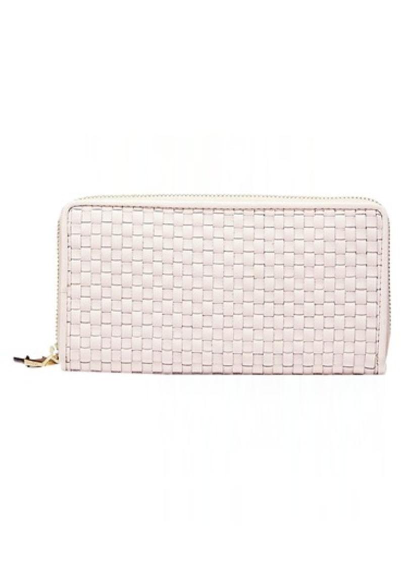 Cole Haan Women's Zoe Woven Continental Wallet peach blush
