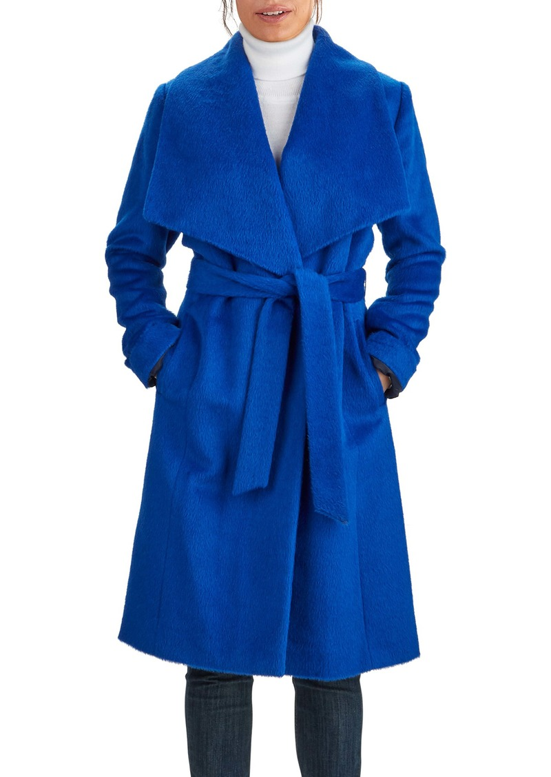 Cole Haan Wool & Alpaca Blend Wrap Coat