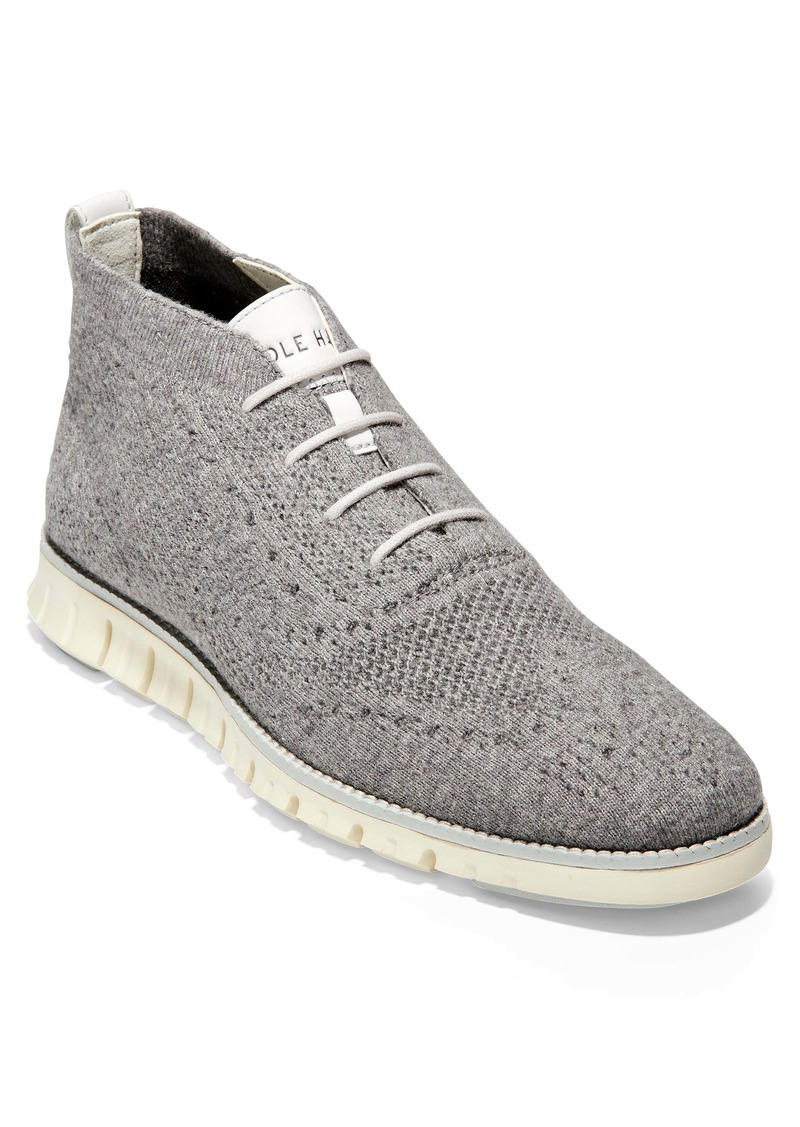 Cole Haan ZeroGrand Stitchlite Knitted Wool Chukka Boot (Men)