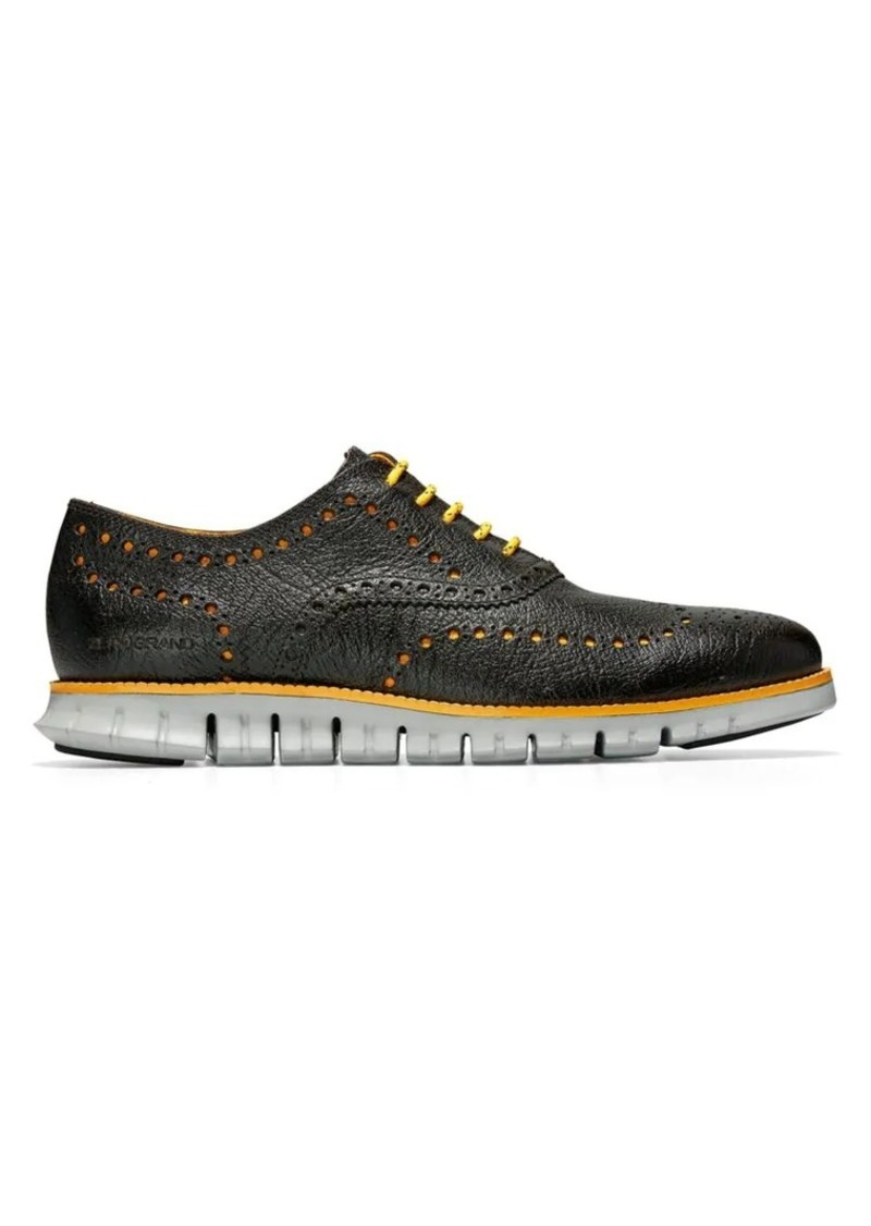 Cole Haan ZeroGrand Wing-Tip Leather Oxfords