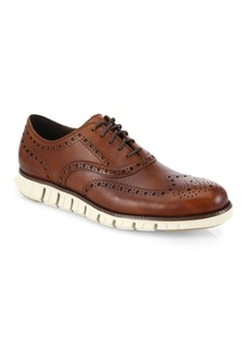 Cole Haan ZeroGrand Wingtip Leather Oxfords