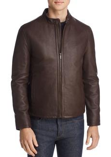 Cole Haan Zip-Front Leather Jacket