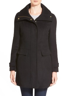 Cole Haan Signature Stand Collar Wool Blend Coat
