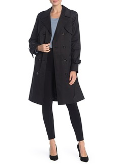 Cole Haan Double Breasted Belted Rain Trench Coat
