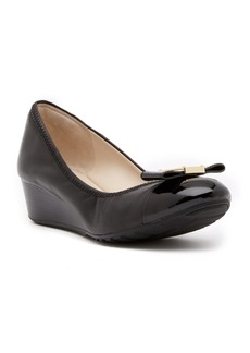 Cole Haan Emory Bow Leather Wedge Pump