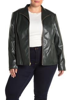 Cole Haan Faux Leather Jacket (Plus Size)