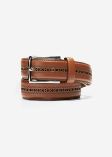 Cole Haan Feathered Edge Perforated 32mm Belt