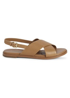 Cole Haan Fernanda Cross-Strap Leather Sandals