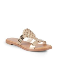 Cole Haan Findra Metallic Flat Sandals