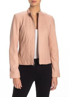 Cole Haan Front Zip Leather Jacket