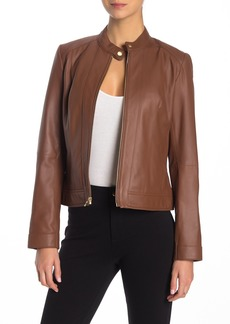 Cole Haan Front Zip Leather Jacket